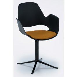 Žlutá čalouněná jídelní židle HOUE Falk II.