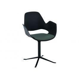 Zelená čalouněná jídelní židle HOUE Falk II.