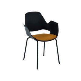 Žlutá čalouněná jídelní židle HOUE Falk III.