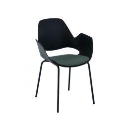 Zelená čalouněná jídelní židle HOUE Falk III.