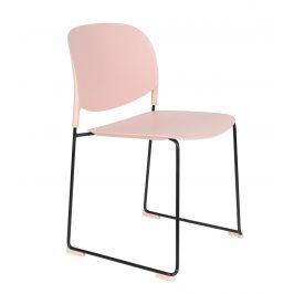 White Label Living Světle růžová plastová židle WLL Stacks