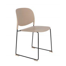 White Label Living Béžová plastová židle WLL Stacks