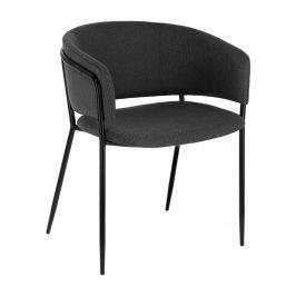 Tmavě šedá čalouněná jídelní židle LaForma Konnie