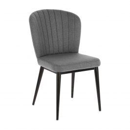 Světle šedá čalouněná jídelní židle LaForma Madge