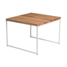 Culty Konferenční stolek Grafico 45x45, 15 mm, bílý kov/dub