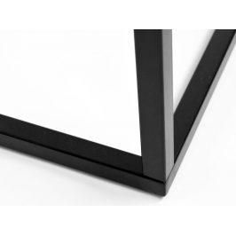Dubový toaletní stolek FormWood Villa 100 x 35 cm s černou podnoží