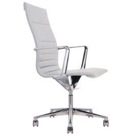 OfficeLab Bílé čalouněné kancelářské křeslo Stello