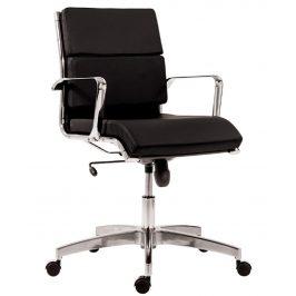 OfficeLab Černé čalouněné kancelářské křeslo Soft Stello