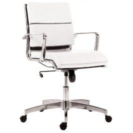 OfficeLab Bílé čalouněné kancelářské křeslo Soft Stello