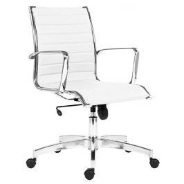 OfficeLab Bílé čalouněné kancelářské křeslo Stello Rib