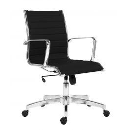 OfficeLab Černé čalouněné kancelářské křeslo Stello Rib
