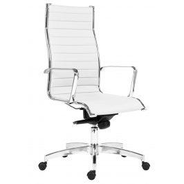 OfficeLab Bílé čalouněné kancelářské křeslo Stello Rib High