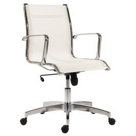 OfficeLab Bílé síťované kancelářské křeslo Stello Mesh