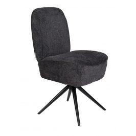 Tmavě šedá čalouněná židle ZUIVER DUSK