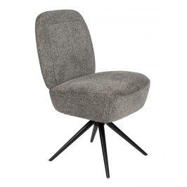 Šedá čalouněná židle ZUIVER DUSK