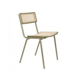 Zelená ratanová jídelní židle ZUIVER JORT