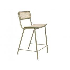 Zelená ratanová barová židle ZUIVER JORT 93,5 cm