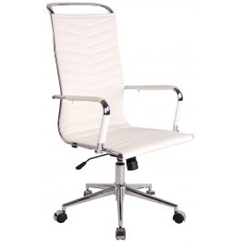 DMQ Bílá kancelářská židle Lexus