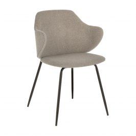 Světle šedá čalouněná jídelní židle Laforma Suanne