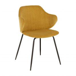 Hořčicově žlutá čalouněná jídelní židle LaForma Suanne