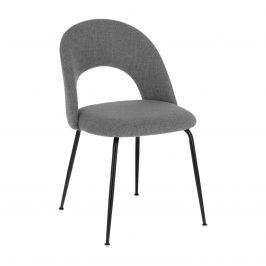 Světle šedá čalouněná jídelní židle LaForma Mahalia
