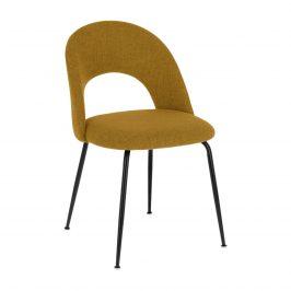 Hořčicově žlutá čalouněná jídelní židle LaForma Mahalia