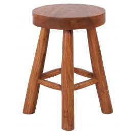 Hnědá teaková stolička Nordic Living Bodit