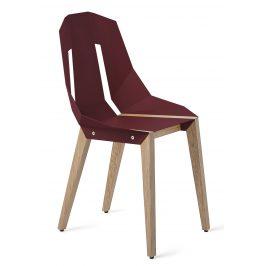 Bordo hliníková židle Tabanda DIAGO s dubovou podnoží