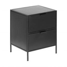 Černý kovový noční stolek LaForma Shantay