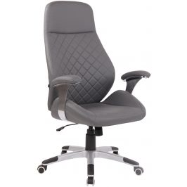 DMQ Šedá kancelářská židle Bentley