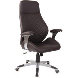 DMQ Tmavě hnědá kancelářská židle Bentley