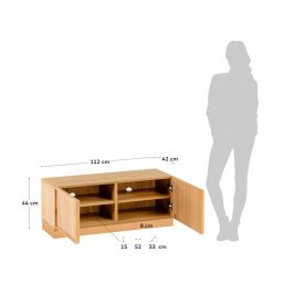 LaForma Hnědý dubový TV stolek La Forma Taiana 112 x 44 cm II.