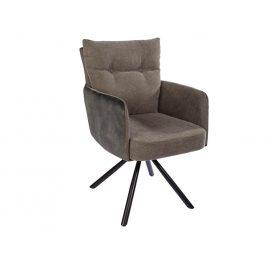 Moebel Living Hnědozelená jídelní židle Bon