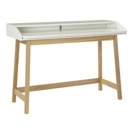 Bílý dubový pracovní stůl Woodman St James 116x47 cm