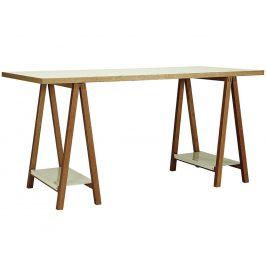 Bílý masivní pracovní stůl Woodman Highbury 160x75 cm