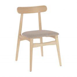 Béžová čalouněná jídelní židle LaForma Nayme