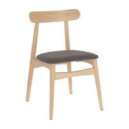 Tmavě šedá čalouněná jídelní židle LaForma Nayme