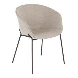 Světle šedá čalouněná jídelní židle LaForma Zadine