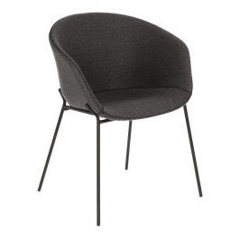 Tmavě šedá čalouněná jídelní židle LaForma Zadine