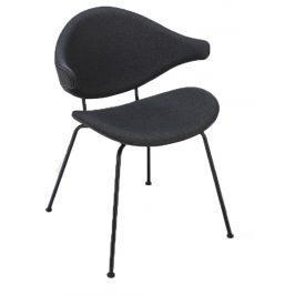 Tmavě šedá čalouněná jídelní židle HOUE Acura s kovovou podnoží