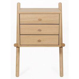 Přírodní dubový noční stolek Woodman Wiru I