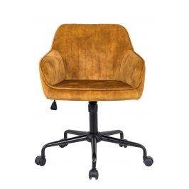 Moebel Living Hořčicově žlutá kancelářská židle Sige