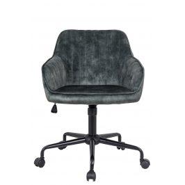 Moebel Living Zelená sametová kancelářská židle Sige
