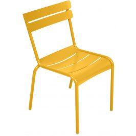 Žlutá kovová jídelní židle Fermob Luxembourg