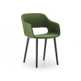 Pedrali Zelená čalouněná jídelní židle Babila 2756