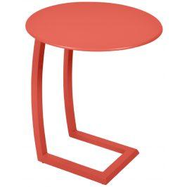 Oranžový kovový odkládací stolek Fermob Alizé Ø 48 cm