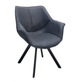 Moebel Living Šedá čalouněná jídelní židle Saloma