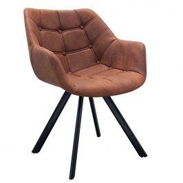 Moebel Living Hnědá čalouněná jídelní židle Andora