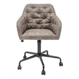 Moebel Living Světle hnědá sametová kancelářská židle Goja
