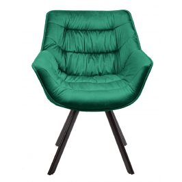 Moebel Living Zelená sametová jídelní židle Grec
